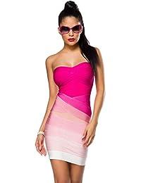 trägerloses Bandage-Shape-Kleid