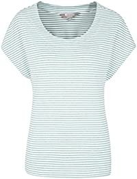 Mountain Warehouse Moraine Stripe Melange Womens Tee - Lightweight Ladies Top, Breathable Summer Tshirt, Easy Care Tee Shirt - for Travelling, Walking, Picnic & BBQ