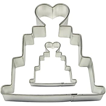 PME Wedding Cake Cookie And Cake Cutters, Small And Large Sizes, Set Of 2