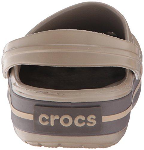 crocs Unisex-Erwachsene Crocband Clogs Braun (Khaki/Espresso-23G)