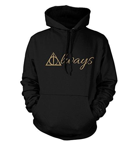 net-shirts Always Hoodie Kapuzenpullover mit Aufdruck Inspired by Harry Potter, Größe XXL, Schwarz
