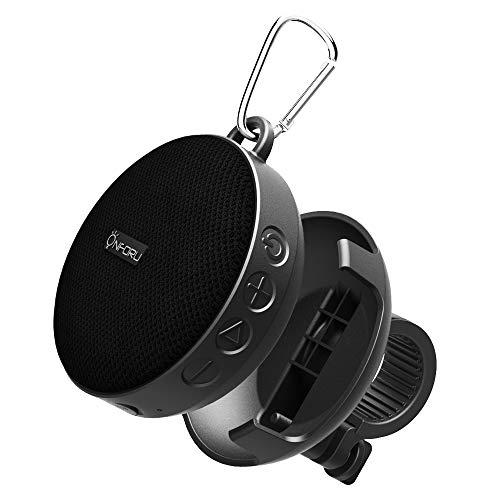Onforu Bluetooth Lautsprecher | IPX7 Wasserdicht Bluetooth 5.0 Duschlautsprecher mit Fahrradhalter | bis zu 10 Stunden Wiedergabe | Tragbar Wireless Speaker mit Freisprecheinrichtung für Fahrrad Reise