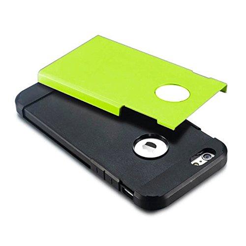 JING Pour iPhone 6 / 6s, Housse de protection rigide pour PC + TPU Tough Armor Color Hard ( Color : Grey ) Green