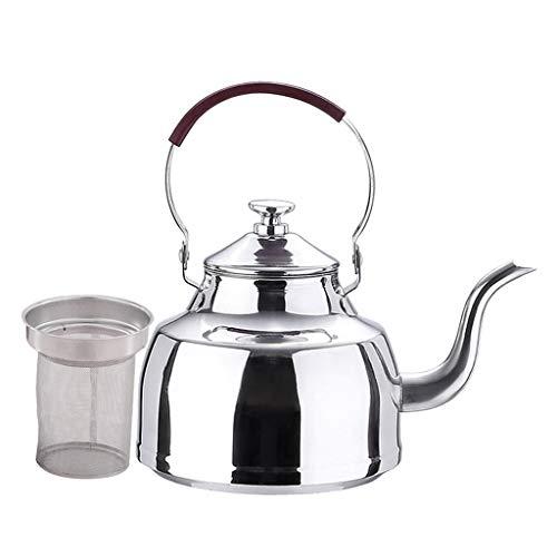 el Edelstahl Teekanne Induktion Wasserkanne Wasserkessel mit Sieb für Zuhause, Hotel, Restaurant, Bar - 1200ml mit Sieb ()