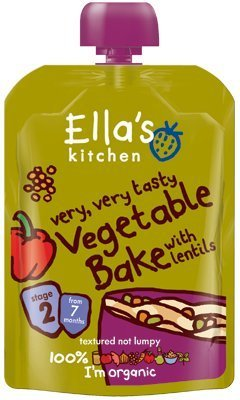 Ella's Kitchen Very Very Tasty Vegetable Bake with Lentils Stage 2 From 7 Mths 130G by Ella's Kitchen