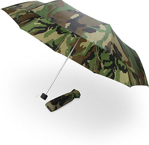 Taschenschirm in Camouflage Optik, faltbar, klein, kompakt und leicht, inkl. Tasche (Winziges Teleskop)