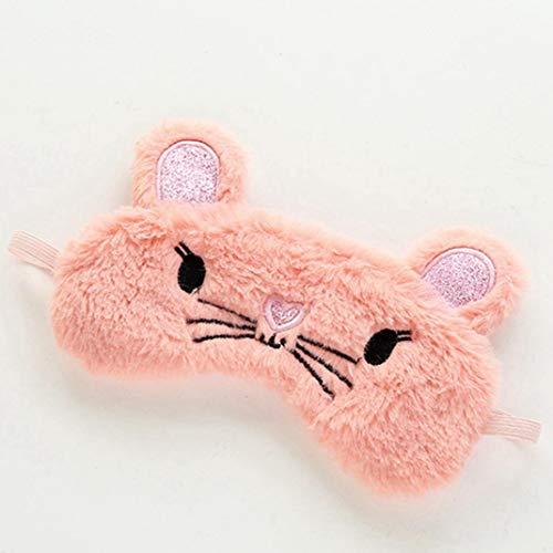te lustige Tier-Augenmaske/Schlafmaske, niedliche Verdunkelung, weiche Flauschige Reise-Augenmaske für Kinder, Männer, Frauen für Zuhause, Dekoration Pink Mouse. ()