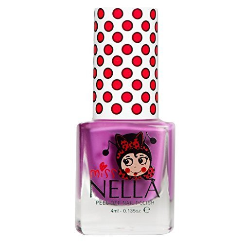 Miss Nella Little Poppet Special Purple Nail Polish for Kids with Peel-off Water Based Formula by MissNella