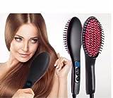 #9: ISABELLA 2 In 1 Ceramic Hair Straightener Brush - Black