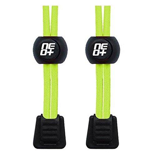 Elastische Schnürsenkel für Laufen und Triathlons - Neon Gelb