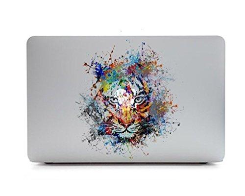caroki New Art Abnehmbare Vinyl Aufkleber Aufkleber Skin für Apple MacBook tiger