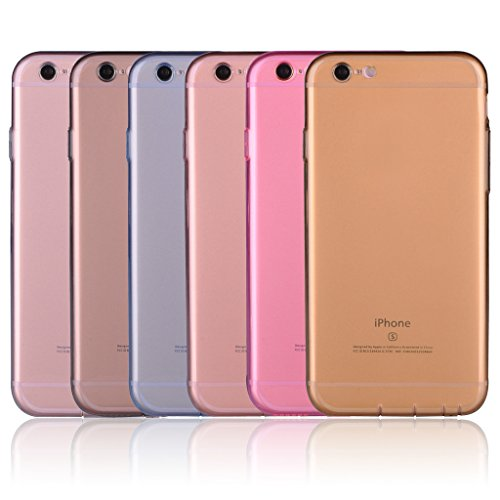 Infinite U Jewellery Transparent Souple TPU Gel Case/Coque/Etui de Téléphone Mobile pour iPhone 6/6s (4.7 Pouces) Femme Colour-6