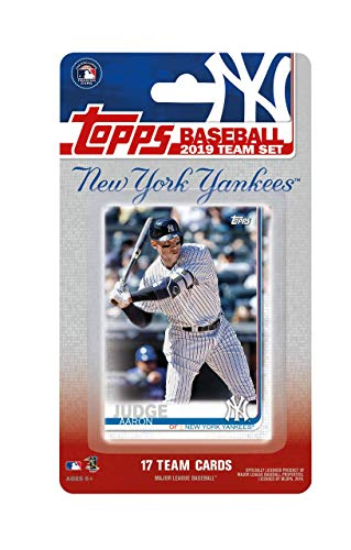 02d75654 New York Yankees 2019 Topps Factory Sealed 17 Card Limited Edition Team Set  with Aaron Judge