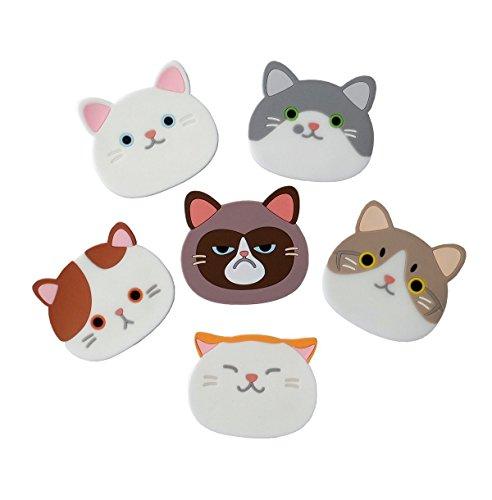 Katze untersetzer silikon gummi für wein, glas, tee, haus, küche Dekor