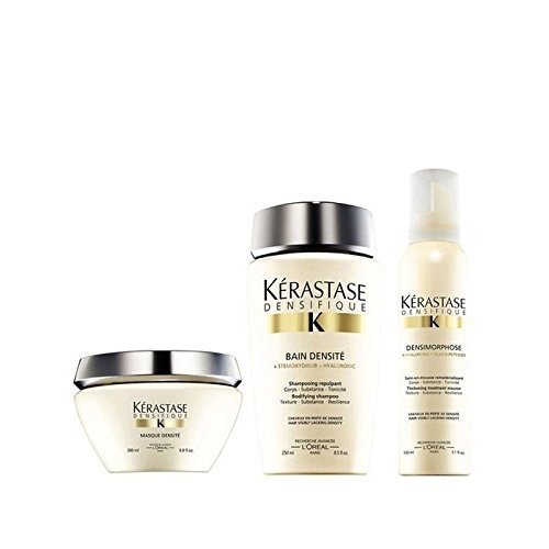 KÉRASTASE Densifique Bain densite (250ml) Masque densite (200 ml) y Mousse densimorphose (150 ml)