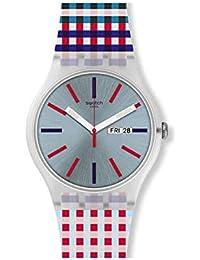 Swatch Reloj Analógico para Unisex Adultos de Cuarzo con Correa en Silicona SUOW709