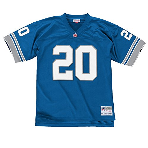 Mitchell & Ness Barry Sanders Detroit Lions Replica Throwback NFL Trikot Blau XL