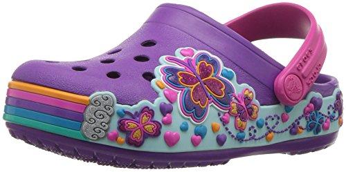 crocs Crocband Fun Lab Graphic Clog Kids, Unisex - Kinder Clogs, Violett (Amethyst), 25/26 EU (Crocband Mädchen Crocs)