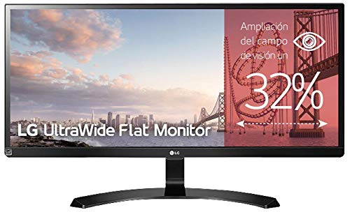 LG 29UM59A-P - Monitor Profesional UltraWide FHD de 73,7 cm (29') con Panel IPS (2560 x 1080 píxeles, 21:9, 250 cd/m², sRGB >99%, 1000:1, 5 ms, 75 Hz) Color Negro