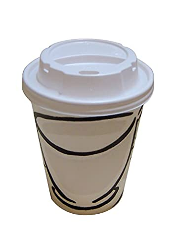 Benders Milano 8oz-12oz-16oz Barrier Disposable Paper Coffee Cups With White