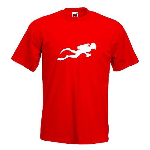 KIWISTAR - Taucher Schnorcheln T-Shirt in 15 verschiedenen Farben - Herren  Funshirt bedruckt Design
