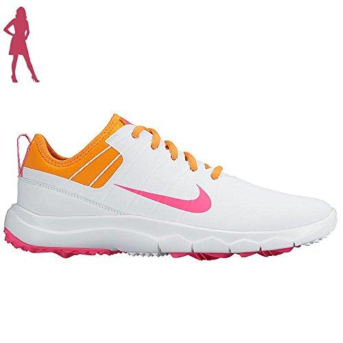 Nike Damen WMNS FI Impact 2 Golfschuhe Blanco (White/Hyper Pink-Vivid Orange) 38 EU