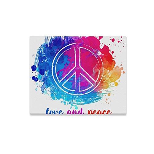 QuqUshop Arte de la Pared Pintura Paz Hippie Símbolo sobre Impresione