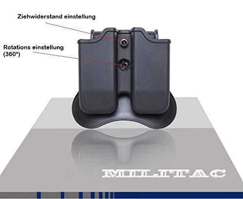intasche für alle Glock doppelreihige Magazine, mit Neigungswinkel 360° und Ziehwiderstand Einstellung ()