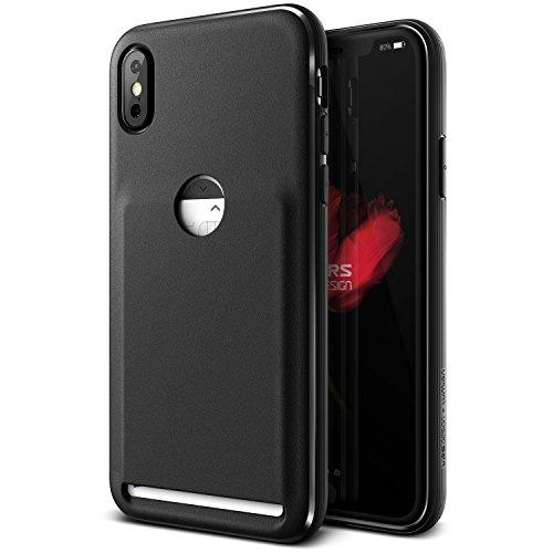 iPhone X Hülle, VRS Design® Kartenfach Schutzhülle [Schwarz] Schlagfesten Case Kratzfeste Stoßsichere Handyhülle [Damda Fit] für Apple iPhone X / iPhone 10 (2017)
