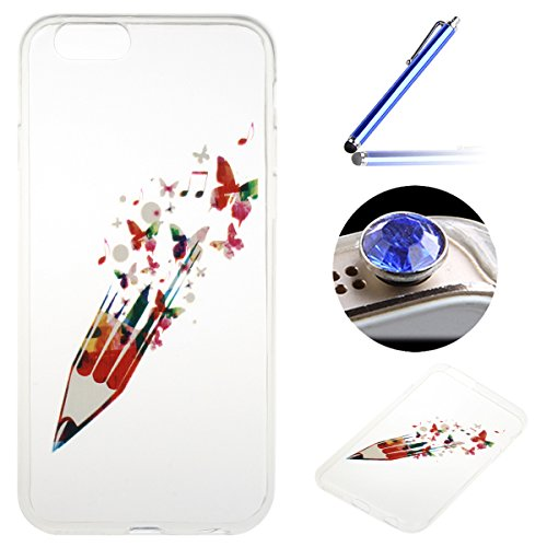 Etsue custodia per iPhone 6/6S 4.7 TPU case cover custodia in silicone caso di gomma flessibile morbido silicone paraurti soft gel slim fit ultra sottile misura flessibile liscia caso anti scratch tra *5