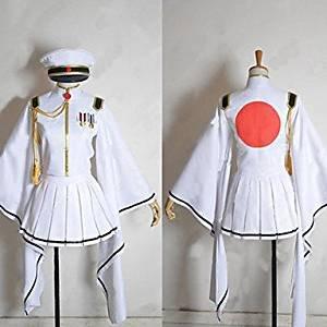 Kostüm Hatsune Miku Alle - Sunkee Vocaloid Senbon Sakura Cosplay White Flame Hatsune Miku Kostüm, Größe XL ( Alle Größe Sind Wie Beschreibung Gesagt, überprüfen Sie Bitte Die Größentabelle Vor Der Bestellung )