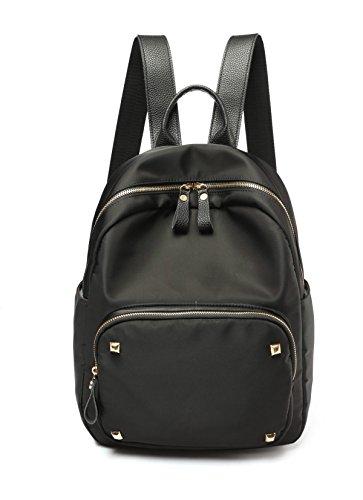 Oxford New Lady Nylon Lässige Tasche Wild Rucksack,Black Black