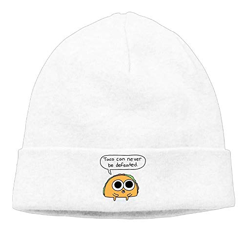 deyhfef Hip-hop Cap Taco Never Defeated Unisex Cute Beanie Knit Hat. Multicolor6
