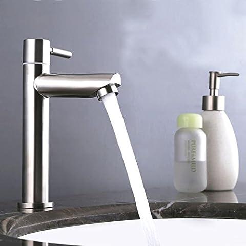TapsosoAcciaio inossidabile freddo singolo pannello senza piombo 4, unico 2041 freddo Water-Saving rubinetto di lavello