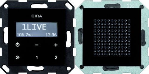 Gira 228005 Unterputz Radio RDS System 55, schwarzglasoptik