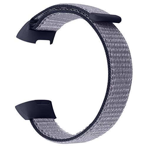 Für Fitbit Charge 3 Armband,MuSheng Kleiner Ersatz Soft Nylon Sport Loop Wrist Band Strap Armbänder Bracelet für Fitbit Charge 3 Armband (Blau) -