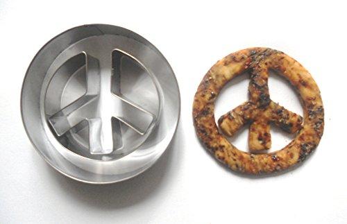 Peace Sign Cookie Cutter Biscuit Fondant Gebäck Candy mold- Lebensmittelqualität Edelstahl Form von Lawman