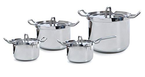BK Cookware B9790.024 Q-linair Master Kochtopf Set 4-teilig, Edelstahl