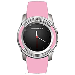Bastex V8 Pink Smartwatch / Watchphone with bluetooth Compatible With ZTE V3 Extreme Edition Mobiles