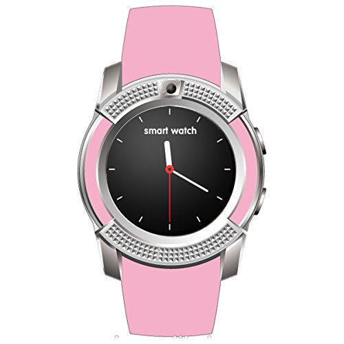 HealthMax HT V8 Pink Smartwatch Compatible With Huawei G Play Mini Mobiles