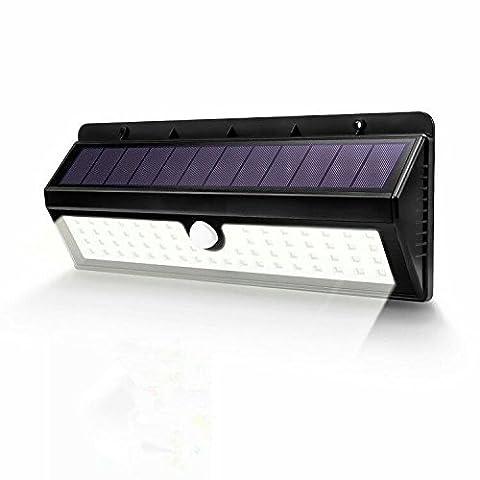 62LED Superbright solaire détecteur de mouvement Applique murale pour extérieur/de