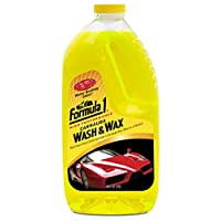 Formula 1 Carnauba Car Wash and Wax Removes Dirt and Grime, Protects and Shines, 64 oz., 615032, H12.6 x W26 x D9.2 cm