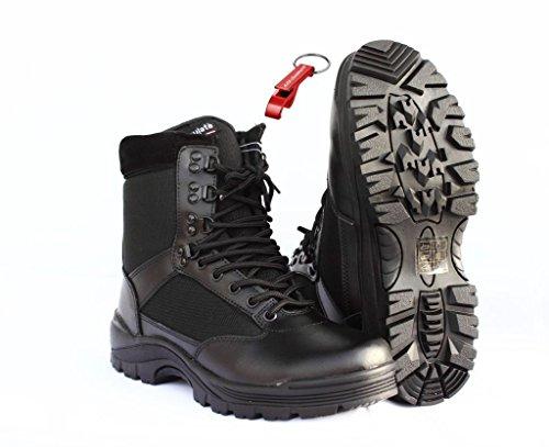 Preisvergleich Produktbild Security Swat Boot Einsatzstiefel 40 + AOS-Outdoor® Schlüsselanhänger