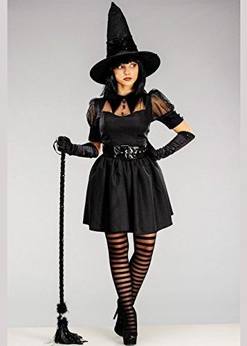 Für Hexe Erwachsene Niedliche Kostüm - Magic Box Int. Erwachsene Damen niedliche Schwarze Bezaubernde Hexe Kostüm L (UK 12-14)