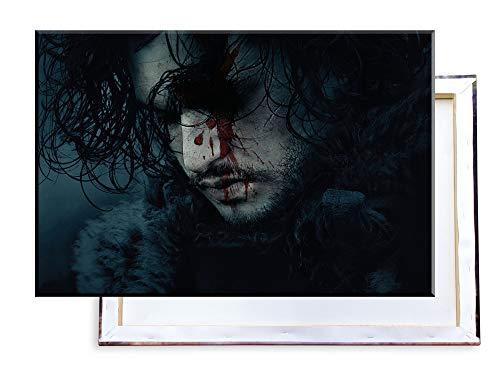 Unified Distribution Game of Thrones - Jon Snow - Kit Harington - 100x70 cm - Bilder & Kunstdrucke fertig auf Leinwand aufgespannt und in erstklassiger Druckqualität -