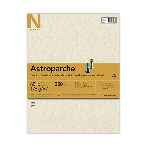 Astroparche Cover Stock, 65 lbs., 8-1/2 x 11, Natural, 250