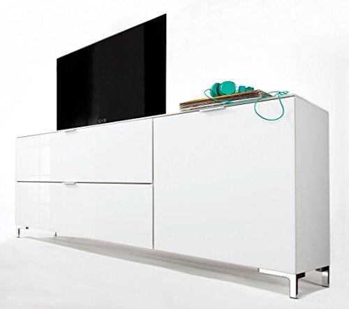 CS Schmalmöbel 45.012.505/018 TV-Board Cleo Typ 14, 163 x 50 x 73 cm, weiß / weißglas - 2