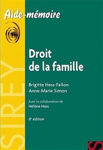 Droit de la famille - 8e d.: Aide-mmoire Sirey