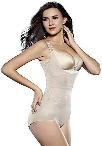 Acexy Shapewear Unterwäsche Taille Butt ShaperBust Shapewear Firm Kontrolle Body für Frauen (Beige, XL) - Firma Shapewear