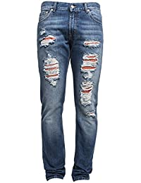 Alexander Mcqueen Homme 452994QIZR80903 Bleu Claire Coton Jeans
